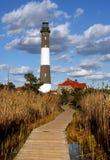 Feuer-Insel-Leuchtturm Stockfoto