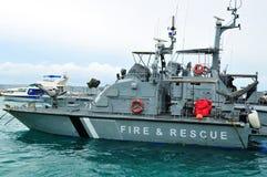 Feuer-kämpfendes Boot Stockfoto