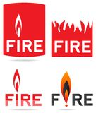 Feuer Logo Concept Lizenzfreies Stockfoto