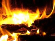 Feuer-Makro Stockfoto