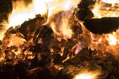 Feuer (Makro) Lizenzfreies Stockbild