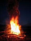 Feuer mit Funken Stockfotografie