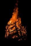 Feuer-Nacht Stockbilder