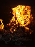 Feuer nachts Lizenzfreie Stockfotos