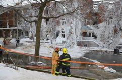 Feuer-Nachwirkungen Lizenzfreies Stockfoto