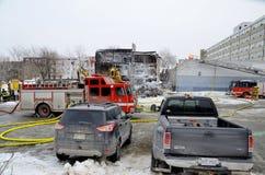 Feuer-Nachwirkungen Lizenzfreies Stockbild