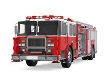 Feuer-Rettungs-LKW lokalisiert lizenzfreie abbildung