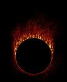 Feuer-Ring mit Rauche Lizenzfreie Stockfotos