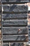 Feuer ruiniert Klotz Stockfotografie