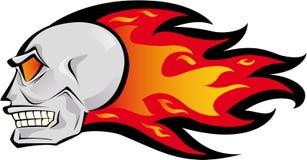 Feuer-Schädel stock abbildung