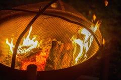Feuer-Schüssel Stockfoto