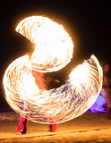 Feuer-Show Stockfoto