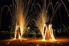 Feuer-Show Stockfotos