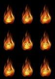 Feuer-smiley eingestellt Lizenzfreie Stockfotos