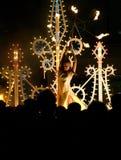 Feuer-Tanzen-Mädchen Stockbilder