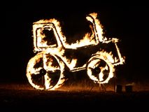 Feuer traktor Stockfoto