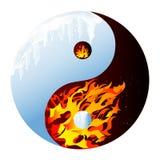 Feuer und Eis Stockfoto
