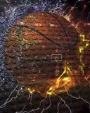 Feuer-und Eis-Basketball Lizenzfreie Stockbilder