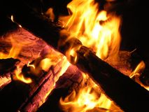 Feuer und Flamme Lizenzfreies Stockfoto