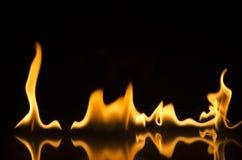 Feuer und Flammen Stockbild