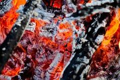 Feuer und Hitze Stockbild