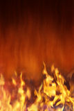 Feuer-und Hitze-Hintergrund Stockfotos