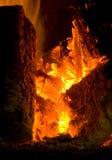 Feuer und Holz Lizenzfreies Stockfoto