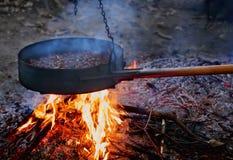 Feuer und Kastanien Stockfotos