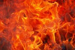Feuer und Rauch Stockfotos