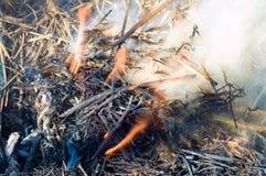 Feuer und Rauch Lizenzfreie Stockbilder