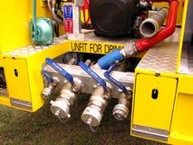 Feuer und Rettungs-LKW Stockbild