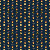 Feuer-und Sonnenblumen-nahtloses Muster vektor abbildung