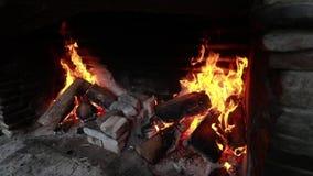 Feuer und Volksmusik stock footage