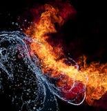 Feuer und Wasser Stockbild