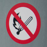Feuer verboten lizenzfreie stockbilder