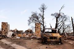Feuer verwüstetes Eigentum Lizenzfreie Stockbilder