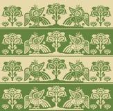 Feuer-Vogel Phoenix, nahtloses Muster, Vektor-Illustration Firebird-Logo Stockfotografie