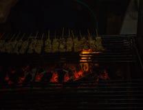 Feuer vom Grill Stockbild