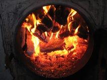 Feuer vom Ofen Lizenzfreie Stockbilder