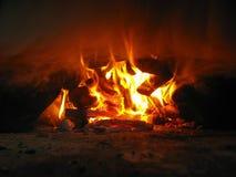 Feuer vom Ofen Stockfotos
