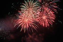 Feuerarbeitshintergrund im neuen Jahr Stockbilder