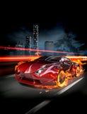 Feuerauto Stockfoto