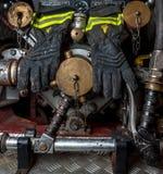 Feuerbekämpfende Handschuhe Lizenzfreies Stockfoto