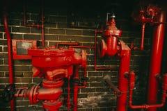 Feuerbekämpfungs-Systemüberbleibsel Stockfotografie