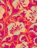 Feuerblumen - nahtloses Muster Stockfotos