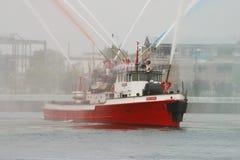 Feuerboot stockfoto