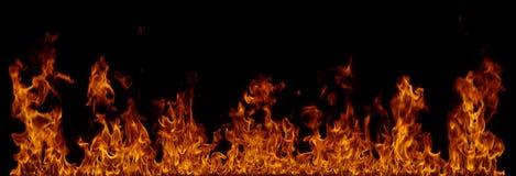 Feuerfahne auf Schwarzem Lizenzfreie Stockfotografie