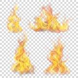 Feuerflamme für hellen Hintergrund Stockfotografie