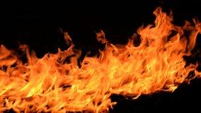 Feuerflammen auf schwarzem Hintergrund Lizenzfreies Stockfoto