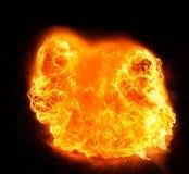 Feuerflammen, lokalisiert auf schwarzem Hintergrund Lizenzfreie Stockfotografie